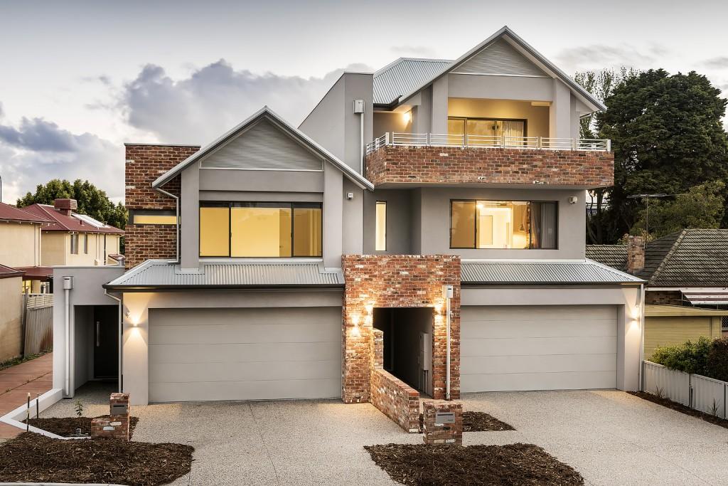 Custom Home Built Houses - Lathlain Duplex Development. 3 Storey and 2 Storey
