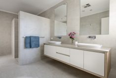 Wheelchair friendly ensuite by a Perth award winnig builder