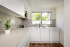 This new home built in perth has a scullery, so the kitchen can be kept clean at all times