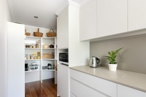 The Scullery is an important part of this solar passive design Perth home